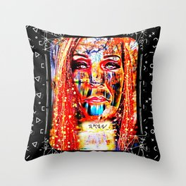 Candied Expression Throw Pillow