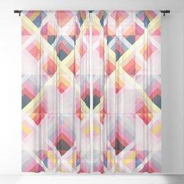 Retro Rougarou Sheer Curtain