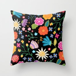 Boho Brights Throw Pillow