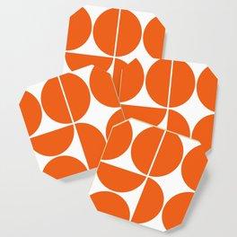 Mid Century Modern Orange Square Coaster