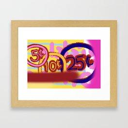 Nickel and Dimed Framed Art Print
