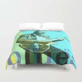 playin the blues Duvet Cover