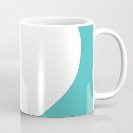 Heart (White & Teal) Coffee Mug