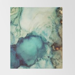 Teal Abstract Throw Blanket