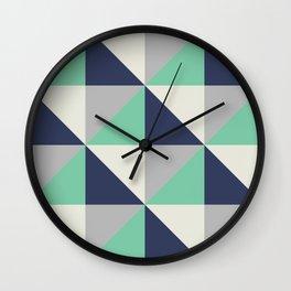 Bluemuda Triangles Wall Clock