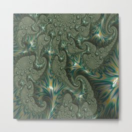 Green Oxidation Metal Print