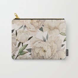 Peonies Pattern Carry-All Pouch