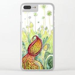 Pitcher Plants Clear iPhone Case
