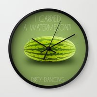 dirty dancing Wall Clocks featuring Dirty Dancing by Marvelis