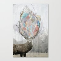 elk Canvas Prints featuring elk by Emily C Gill