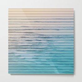 Sunrise Ocean Stripes Metal Print