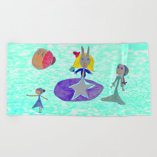 Alice   Up to the light sky Beach Towel