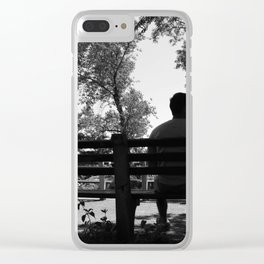 Loneliness Soledad Clear iPhone Case