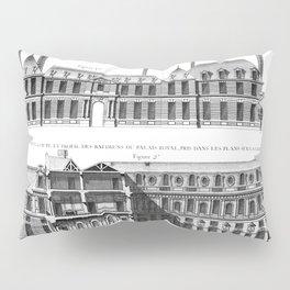 Palais-Royal on the rue St. Honoré 1754 Pillow Sham