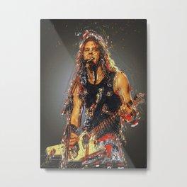 James Alan Hetfield Metall Metal Print