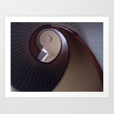 Lighthouse stairs Art Print
