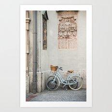 Peterskirche bicycles, Munich Art Print