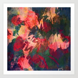 It's Complicated, Abstract Leaves Art Print
