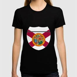 Florida Flag In An Interstate Sign T-shirt