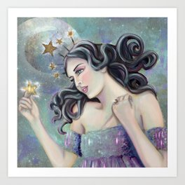 Asteria - Goddess of Stars Art Print