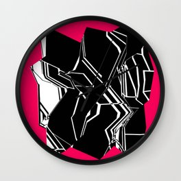Black and White Geode Wall Clock