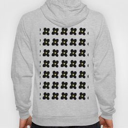 Black Flowers Hoody
