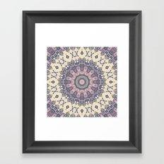 No. 20 Wisteria Arbor Way Regal Purple & Ivory Hugs and Kisses Mandala Framed Art Print