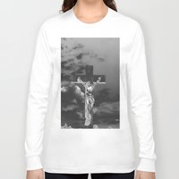 christ Long Sleeve T-shirts featuring Jesus Christ by Kook Berry