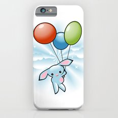 Cute Little Blue Bunny Flying With Balloons Slim Case iPhone 6s