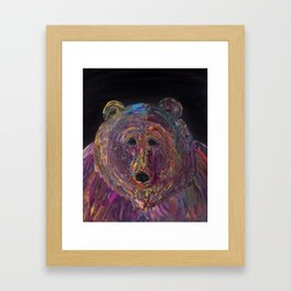 Grizzly Stare Framed Art Print