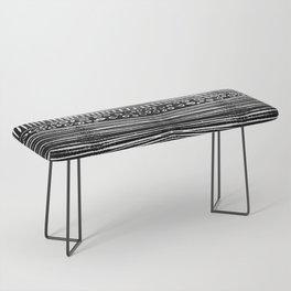 Linocut Tribal Pattern Bench