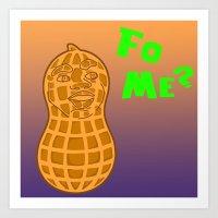 BLR Orange Peanut Art Print