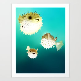 PUFFERFISH Art Print