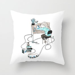 Work & Play Throw Pillow