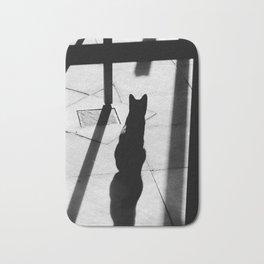Shadow cat Bath Mat
