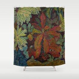 A Rain Forest Garden still life by Hélène Funke Shower Curtain