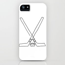 Hockey one line iPhone Case