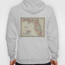 Vintage Map of Florida (1856) Hoody