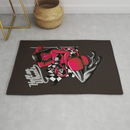 Devil Pin-Up Girl - Hell on Wheels Rug