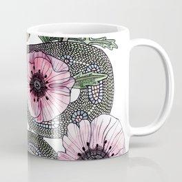 Snake and Poppies Coffee Mug