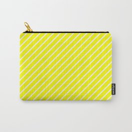 Diagonal Lines (White/Yellow) Carry-All Pouch