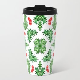Holly Jolly Christmas Kaleidoscope (Small Pattern) Travel Mug