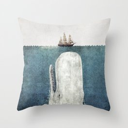 The Whale - vintage  Throw Pillow