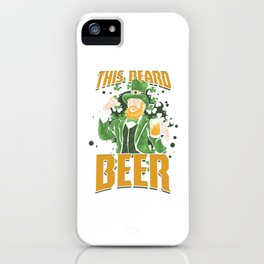 St Paddy's Brewery Ciders Irish Ireland Gift Beer St Patrick's Day iPhone Case