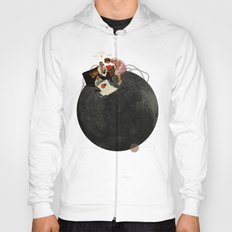 Life on Earth    Collage   White Hoody