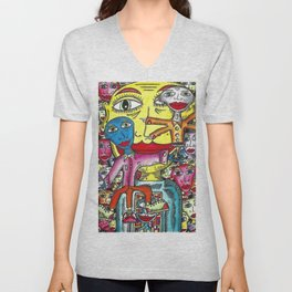 Viggo Vake  Mirror People 2016 Unisex V-Neck