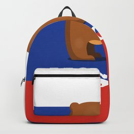 Moscow Bear and flag travel poster. Backpack