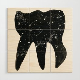Cosmic Tooth / Night Sky Dental Decor Medical Gift Office Decor Astronomy Wood Wall Art