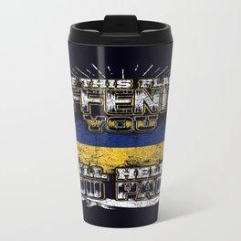 flag offend ukraine Travel Mug