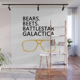 Bears,Beets,Battlestar Galactica Wall Mural